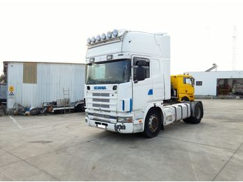 SCANIA R 124 L 420 left hand drive manual retarder air con - çekici