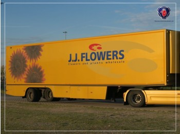 Floor 2 axle Flower trailer | Taillift | Cooling - Heating - dorse