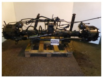 Steerable boggie axle  - aks